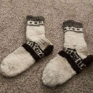 Wool knitted socks